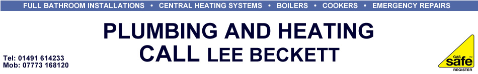 Plumbing and Heating - Call Lee Beckett